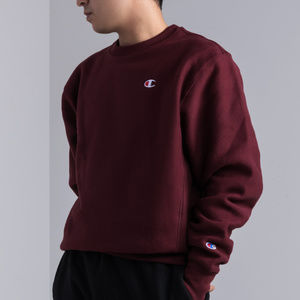 CHAMPION MEN'S REVERSE WEAVE SMALL C CREW SWEATSHI